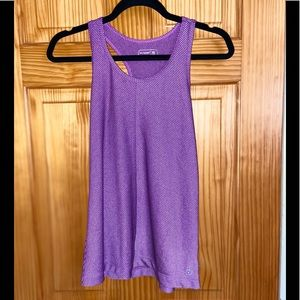 Women's Workout Top Purple and Black Striped